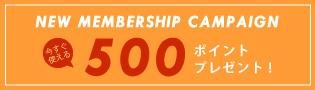 新規会員登録500ポイント