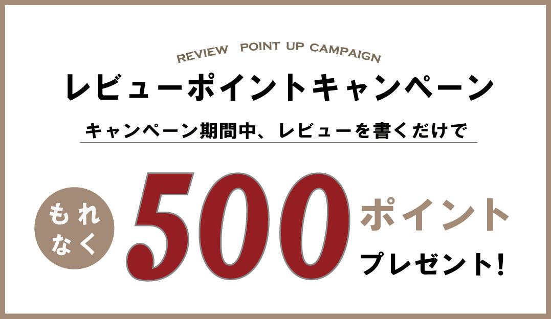 【500pt進呈】レビューキャンペーン開催!